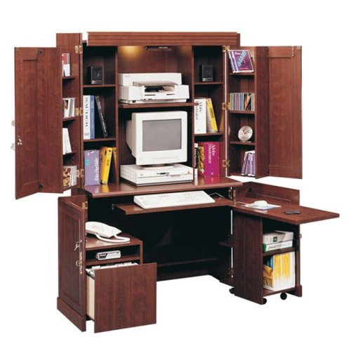 wooden sauder armoire computer desk pdf plans. Black Bedroom Furniture Sets. Home Design Ideas
